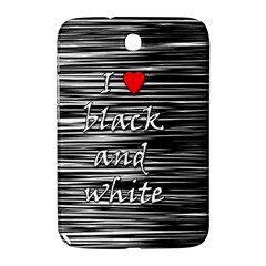 I Love Black And White 2 Samsung Galaxy Note 8 0 N5100 Hardshell Case