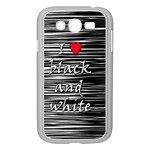 I love black and white 2 Samsung Galaxy Grand DUOS I9082 Case (White) Front