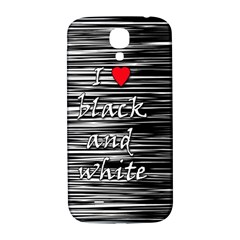 I love black and white 2 Samsung Galaxy S4 I9500/I9505  Hardshell Back Case