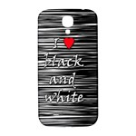 I love black and white 2 Samsung Galaxy S4 I9500/I9505  Hardshell Back Case Front