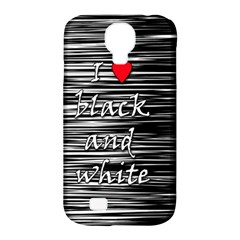I love black and white 2 Samsung Galaxy S4 Classic Hardshell Case (PC+Silicone)