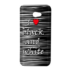 I love black and white 2 HTC Butterfly S/HTC 9060 Hardshell Case