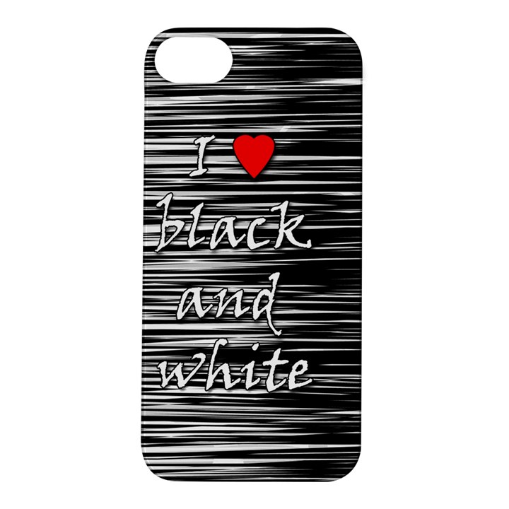 I love black and white 2 Apple iPhone 5S/ SE Hardshell Case