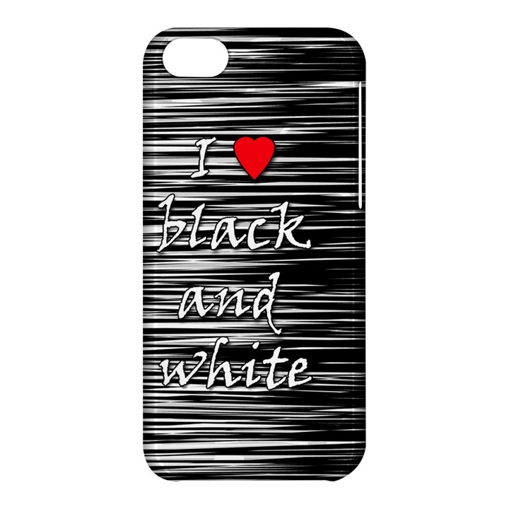 I love black and white 2 Apple iPhone 5C Hardshell Case