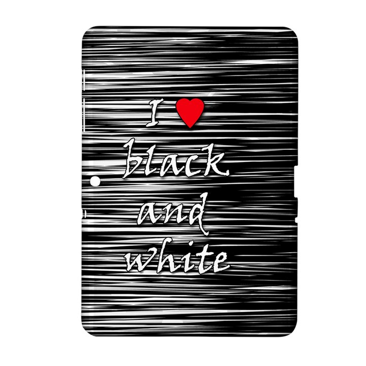 I love black and white 2 Samsung Galaxy Tab 2 (10.1 ) P5100 Hardshell Case