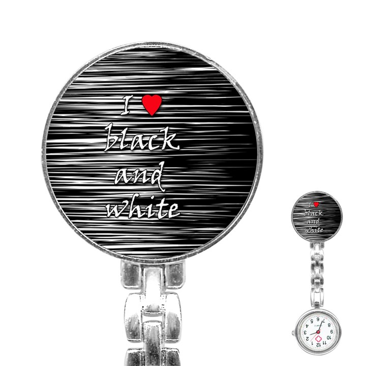 I love black and white 2 Stainless Steel Nurses Watch
