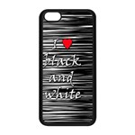 I love black and white 2 Apple iPhone 5C Seamless Case (Black) Front