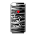 I love black and white 2 Apple iPhone 5C Seamless Case (White) Front