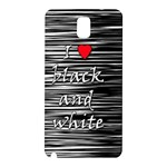 I love black and white 2 Samsung Galaxy Note 3 N9005 Hardshell Back Case Front