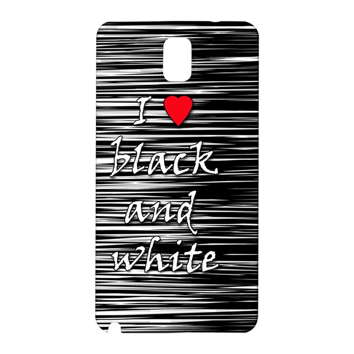 I love black and white 2 Samsung Galaxy Note 3 N9005 Hardshell Back Case