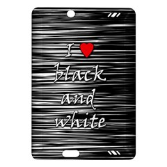 I love black and white 2 Amazon Kindle Fire HD (2013) Hardshell Case