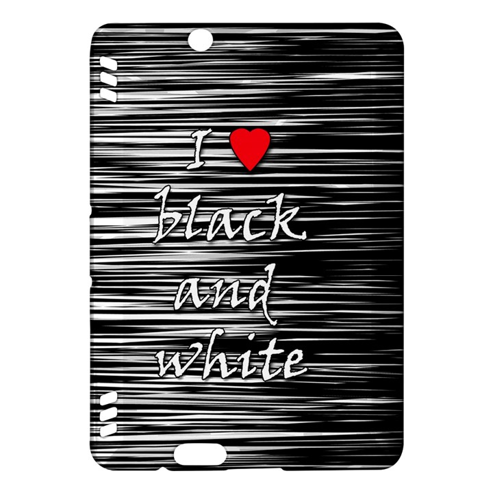 I love black and white 2 Kindle Fire HDX Hardshell Case