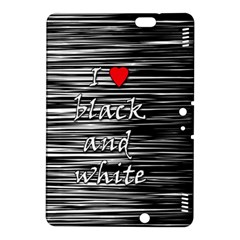 I love black and white 2 Kindle Fire HDX 8.9  Hardshell Case
