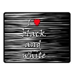 I love black and white 2 Double Sided Fleece Blanket (Small)  50 x40 Blanket Back