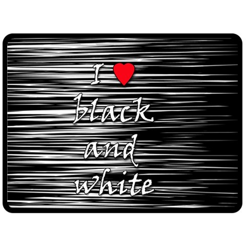 I love black and white 2 Double Sided Fleece Blanket (Large)