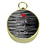 I love black and white 2 Gold Compasses Front
