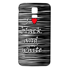 I love black and white 2 Samsung Galaxy S5 Back Case (White)