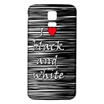 I love black and white 2 Samsung Galaxy S5 Back Case (White) Front