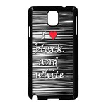 I love black and white 2 Samsung Galaxy Note 3 Neo Hardshell Case (Black) Front