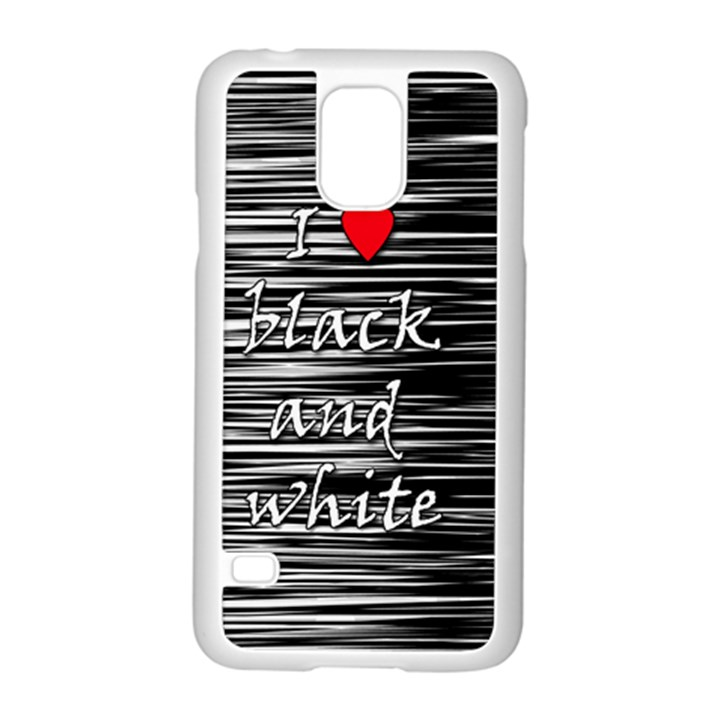 I love black and white 2 Samsung Galaxy S5 Case (White)