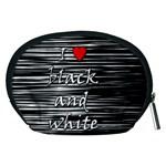 I love black and white 2 Accessory Pouches (Medium)  Back