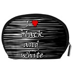 I love black and white 2 Accessory Pouches (Large)  Back
