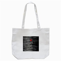 I love black and white 2 Tote Bag (White)
