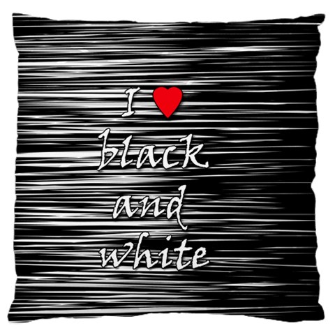 I love black and white 2 Large Flano Cushion Case (One Side)