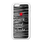 I love black and white 2 Apple iPhone 6/6S White Enamel Case Front