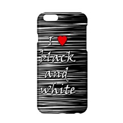I love black and white 2 Apple iPhone 6/6S Hardshell Case