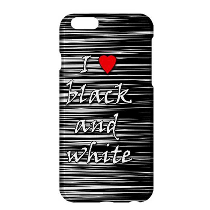 I love black and white 2 Apple iPhone 6 Plus/6S Plus Hardshell Case