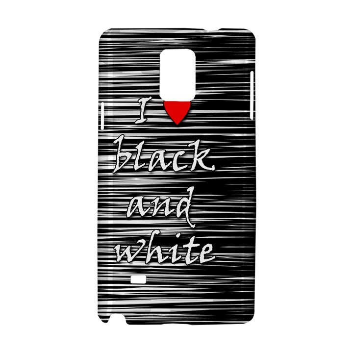 I love black and white 2 Samsung Galaxy Note 4 Hardshell Case