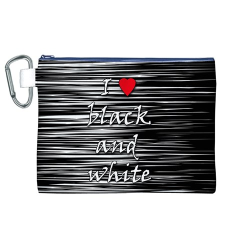 I love black and white 2 Canvas Cosmetic Bag (XL)