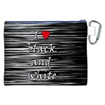 I love black and white 2 Canvas Cosmetic Bag (XXL) Back