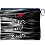 I love black and white 2 Canvas Cosmetic Bag (XXXL) Back