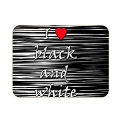 I love black and white 2 Double Sided Flano Blanket (Mini)