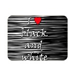 I love black and white 2 Double Sided Flano Blanket (Mini)  35 x27 Blanket Back