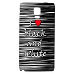 I love black and white 2 Galaxy Note 4 Back Case Front