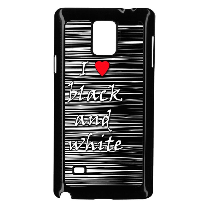 I love black and white 2 Samsung Galaxy Note 4 Case (Black)