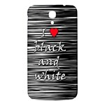 I love black and white 2 Samsung Galaxy Mega I9200 Hardshell Back Case Front