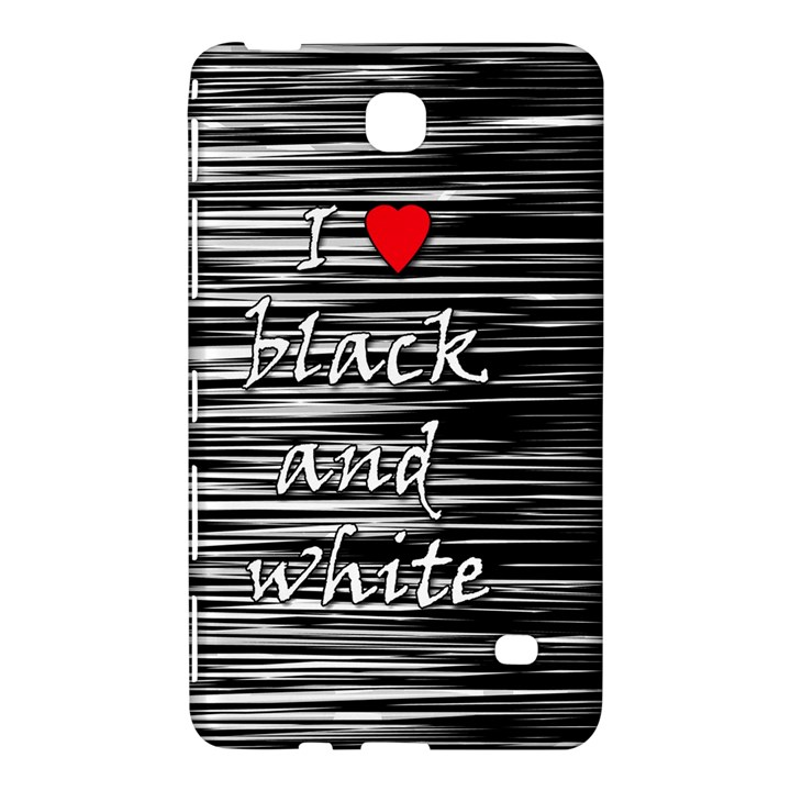 I love black and white 2 Samsung Galaxy Tab 4 (8 ) Hardshell Case