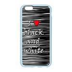 I love black and white 2 Apple Seamless iPhone 6/6S Case (Color) Front