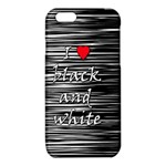 I love black and white 2 iPhone 6/6S TPU Case Front