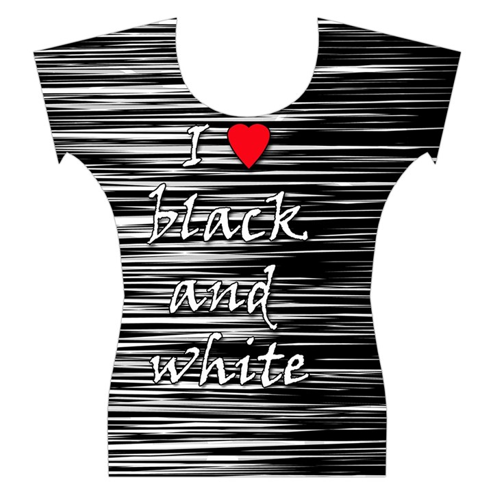I love black and white 2 Women s Cap Sleeve Top