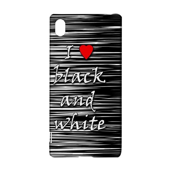 I love black and white 2 Sony Xperia Z3+