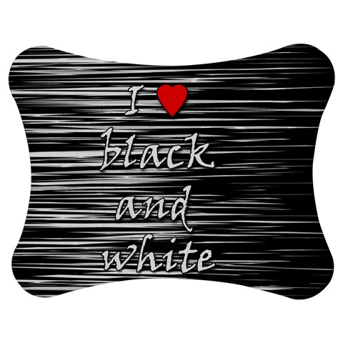 I love black and white 2 Jigsaw Puzzle Photo Stand (Bow)