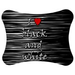 I love black and white 2 Jigsaw Puzzle Photo Stand (Bow) Front