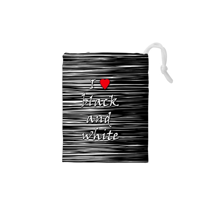 I love black and white 2 Drawstring Pouches (XS)