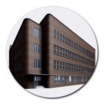 Office Building Villa Rendering Round Mousepads Front