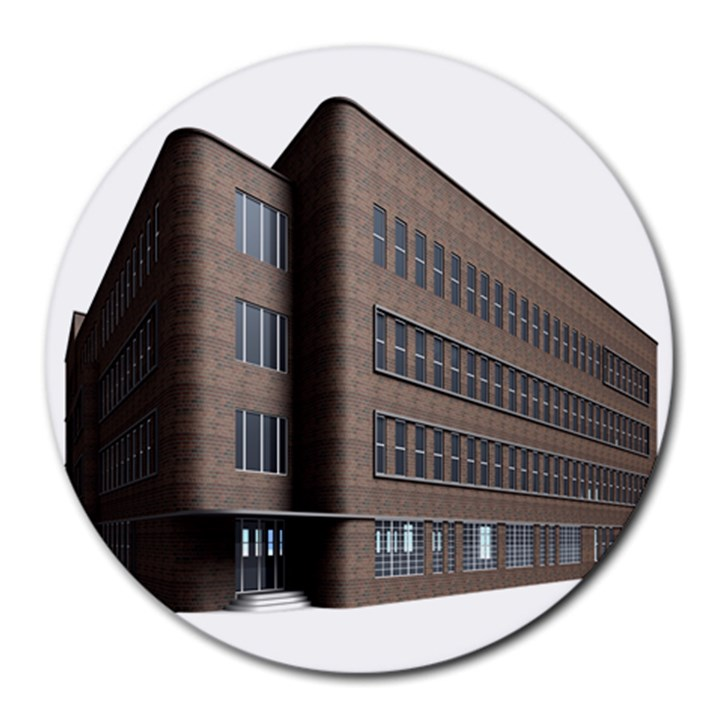 Office Building Villa Rendering Round Mousepads
